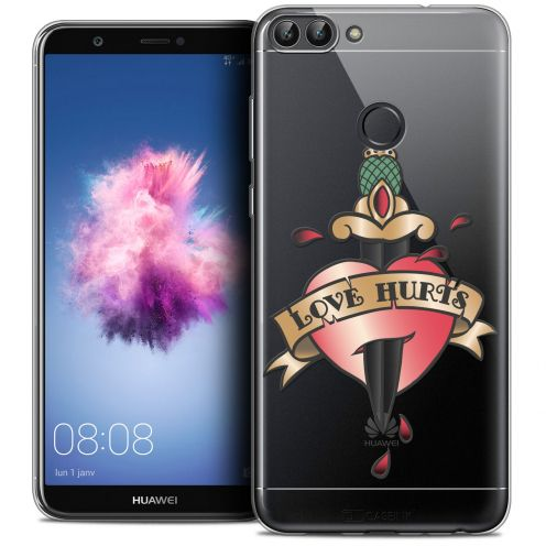 """Coque Crystal Gel Huawei P Smart (5.7"""") Extra Fine Tatoo Lover - Love Hurts"""