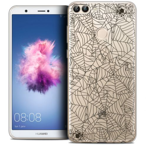 "Coque Crystal Gel Huawei P Smart (5.7"") Extra Fine Halloween - Spooky Spider"