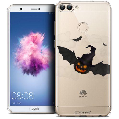 "Coque Crystal Gel Huawei P Smart (5.7"") Extra Fine Halloween - Chauve Citrouille"