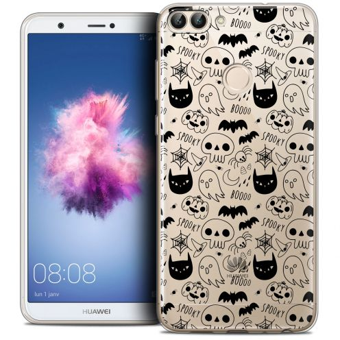 "Coque Crystal Gel Huawei P Smart (5.7"") Extra Fine Halloween - Spooky"