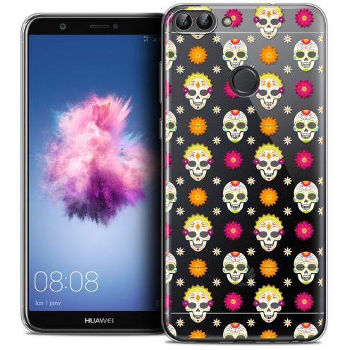 "Coque Crystal Gel Huawei P Smart (5.7"") Extra Fine Halloween - Skull Halloween"