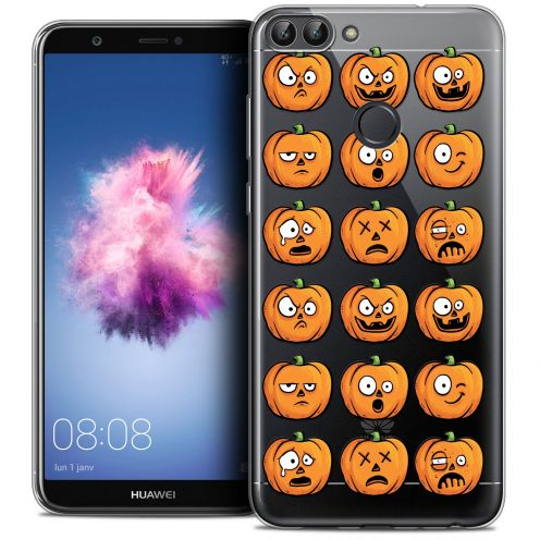 "Coque Crystal Gel Huawei P Smart (5.7"") Extra Fine Halloween - Cartoon Citrouille"