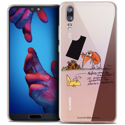 "Coque Gel Huawei P20 (5.8"") Extra Fine Les Shadoks® - Le Travail"