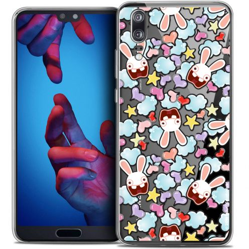 "Coque Gel Huawei P20 (5.8"") Extra Fine Lapins Crétins™ - Love Pattern"
