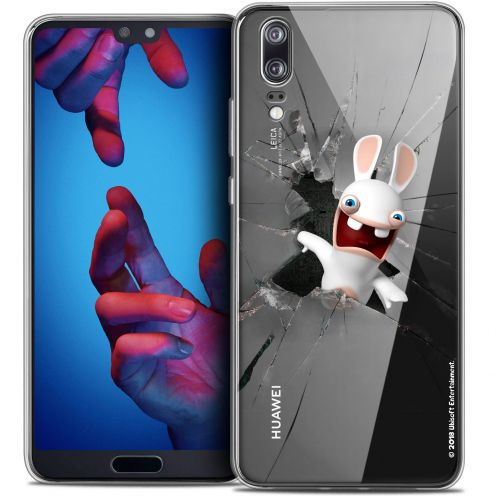 """Coque Gel Huawei P20 (5.8"""") Extra Fine Lapins Crétins™ - Breaking Glass"""