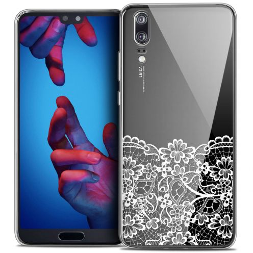 "Coque Crystal Gel Huawei P20 (5.8"") Extra Fine Spring - Bas dentelle"