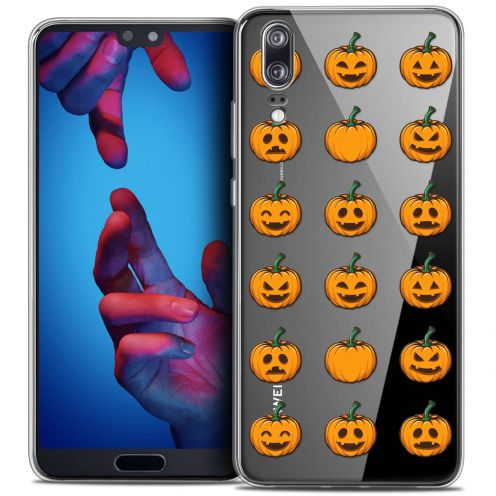"""Coque Crystal Gel Huawei P20 (5.8"""") Extra Fine Halloween - Smiley Citrouille"""