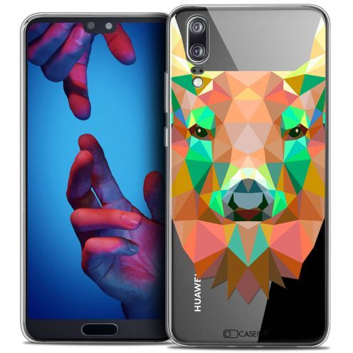 "Coque Crystal Gel Huawei P20 (5.8"") Extra Fine Polygon Animals - Cerf"