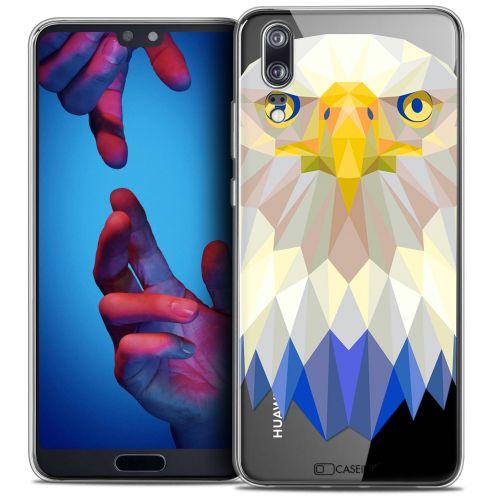 "Coque Crystal Gel Huawei P20 (5.8"") Extra Fine Polygon Animals - Aigle"