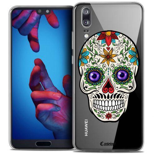 "Coque Crystal Gel Huawei P20 (5.8"") Extra Fine Skull - Maria's Flower"