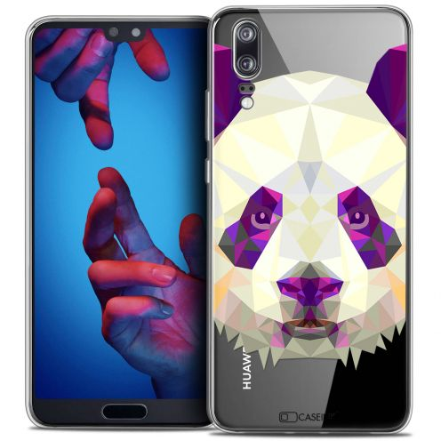 "Coque Crystal Gel Huawei P20 (5.8"") Extra Fine Polygon Animals - Panda"