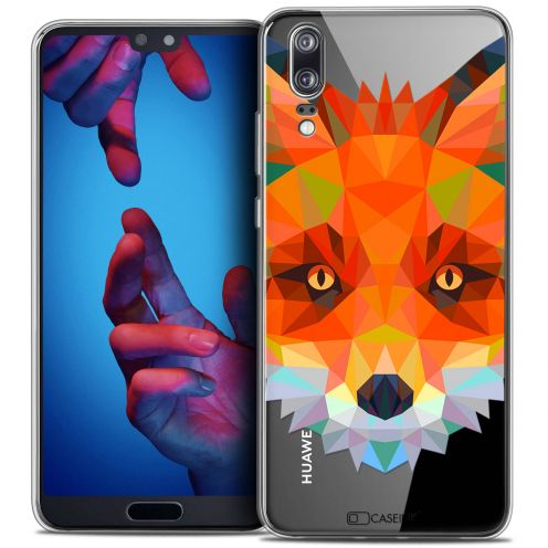 "Coque Crystal Gel Huawei P20 (5.8"") Extra Fine Polygon Animals - Renard"