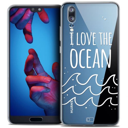 "Coque Crystal Gel Huawei P20 (5.8"") Extra Fine Summer - I Love Ocean"