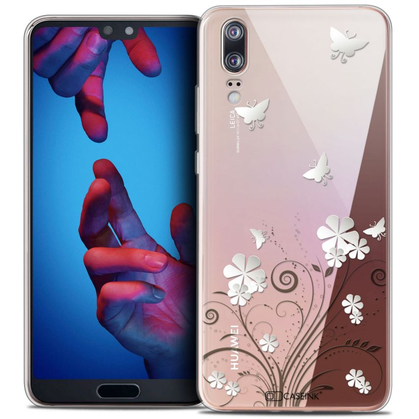 """Coque Crystal Gel Huawei P20 (5.8"""") Extra Fine Summer - Papillons"""