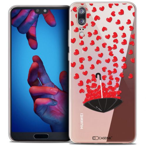 "Coque Crystal Gel Huawei P20 (5.8"") Extra Fine Love - Parapluie d'Amour"