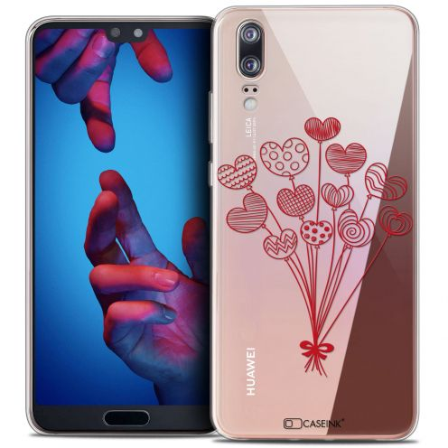 "Coque Crystal Gel Huawei P20 (5.8"") Extra Fine Love - Ballons d'amour"