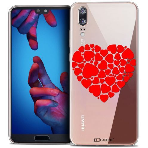"Coque Crystal Gel Huawei P20 (5.8"") Extra Fine Love - Coeur des Coeurs"