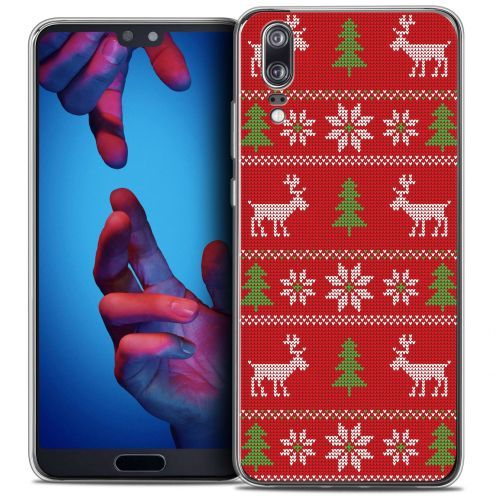"Coque Crystal Gel Huawei P20 (5.8"") Extra Fine Noël 2017 - Couture Rouge"