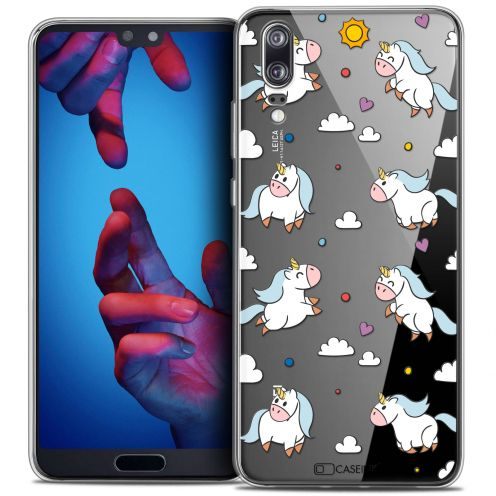 "Coque Crystal Gel Huawei P20 (5.8"") Extra Fine Fantasia - Licorne In the Sky"