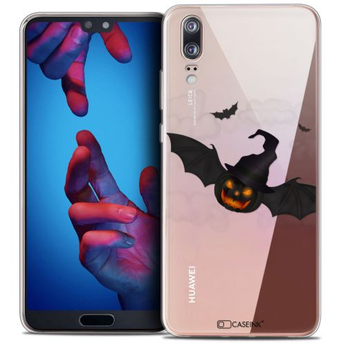 "Coque Crystal Gel Huawei P20 (5.8"") Extra Fine Halloween - Chauve Citrouille"