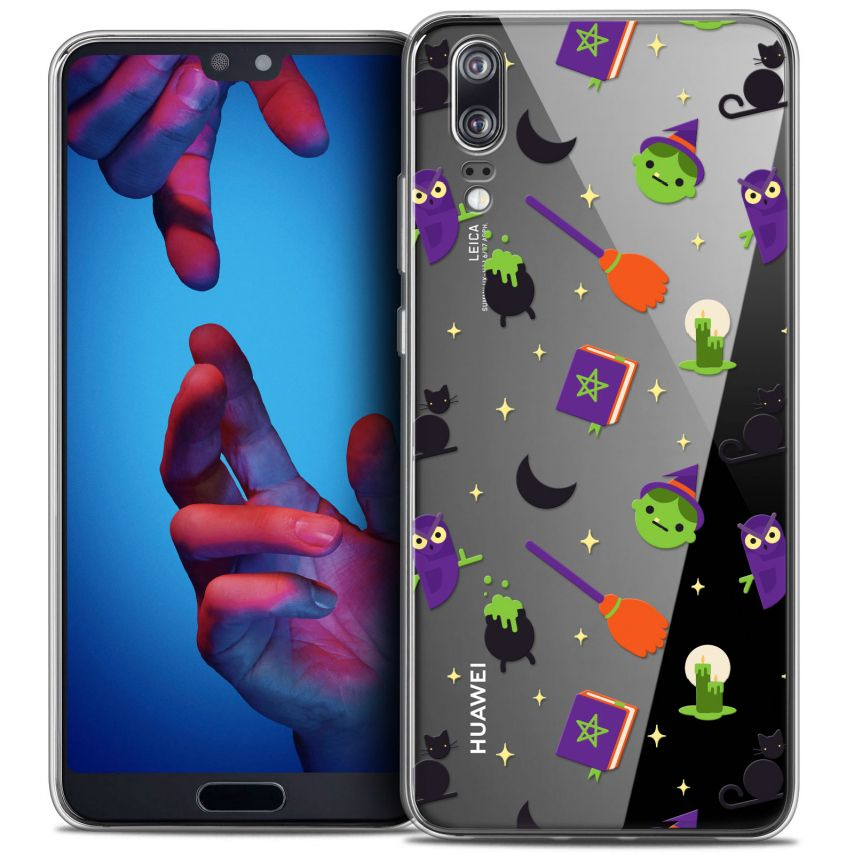 """Coque Crystal Gel Huawei P20 (5.8"""") Extra Fine Halloween - Witch Potter"""