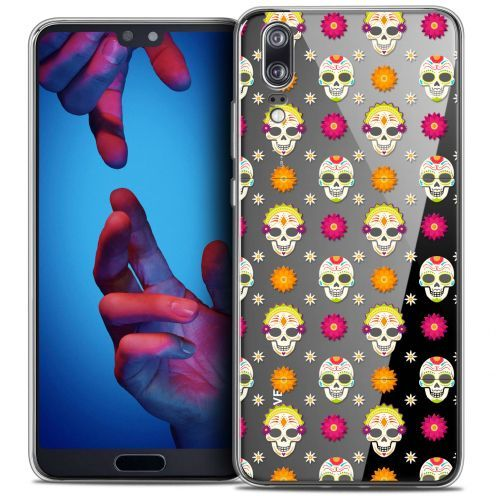 "Coque Crystal Gel Huawei P20 (5.8"") Extra Fine Halloween - Skull Halloween"
