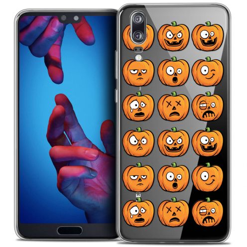"Coque Crystal Gel Huawei P20 (5.8"") Extra Fine Halloween - Cartoon Citrouille"