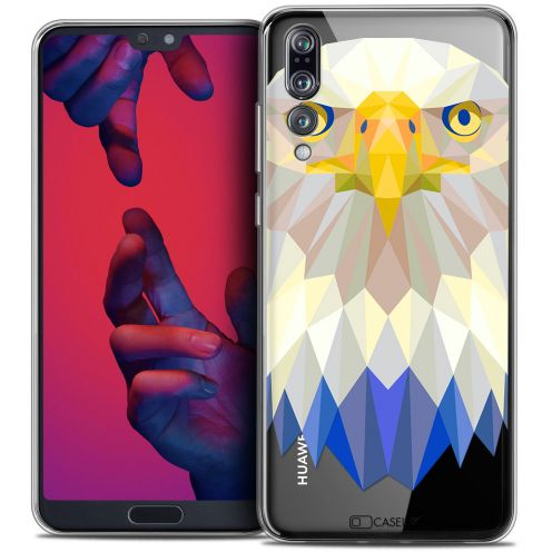 "Coque Crystal Gel Huawei P20 PRO (6.1"") Extra Fine Polygon Animals - Aigle"