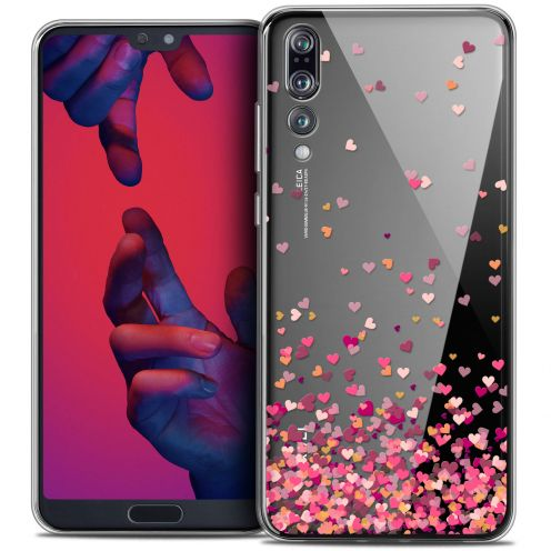 """Coque Crystal Gel Huawei P20 PRO (6.1"""") Extra Fine Sweetie - Heart Flakes"""
