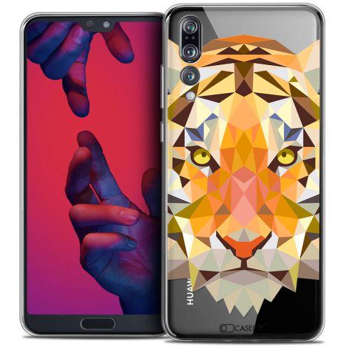 "Coque Crystal Gel Huawei P20 PRO (6.1"") Extra Fine Polygon Animals - Tigre"