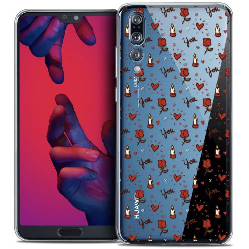 "Coque Crystal Gel Huawei P20 PRO (6.1"") Extra Fine Love - Bougies et Roses"