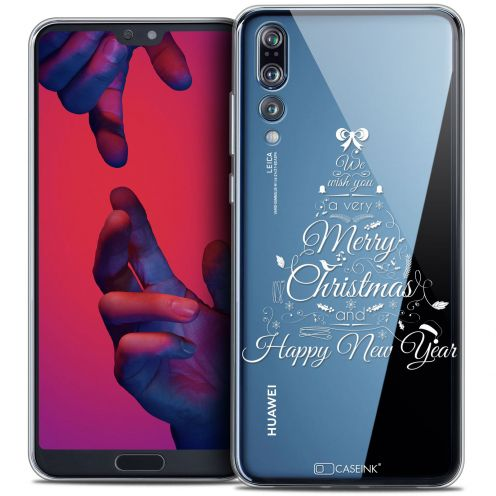 "Coque Crystal Gel Huawei P20 PRO (6.1"") Extra Fine Noël 2017 - Calligraphie"