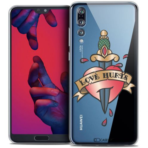 "Coque Crystal Gel Huawei P20 PRO (6.1"") Extra Fine Tatoo Lover - Love Hurts"