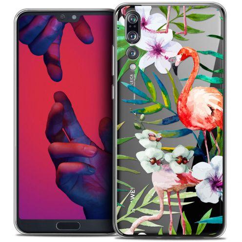 "Coque Crystal Gel Huawei P20 PRO (6.1"") Extra Fine Watercolor - Tropical Flamingo"