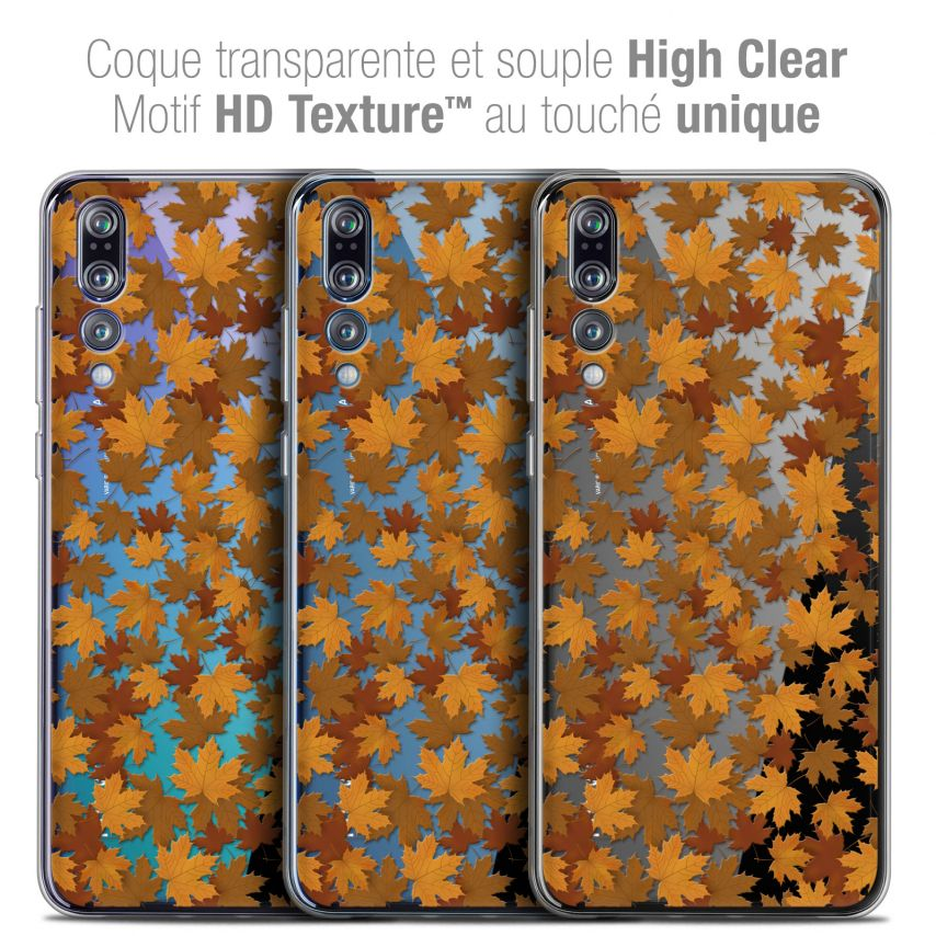 """Coque Crystal Gel Huawei P20 PRO (6.1"""") Extra Fine Autumn 16 - Feuilles"""