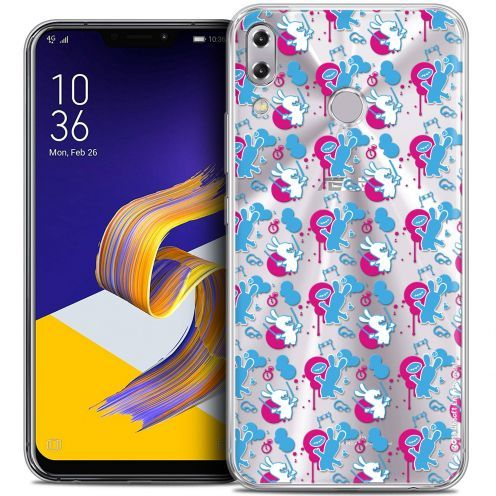 """Coque Gel Asus Zenfone 5z ZS620KL (6.2"""") Extra Fine Lapins Crétins™ - Rugby Pattern"""