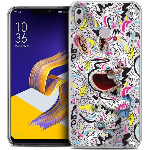 """Coque Gel Asus Zenfone 5z ZS620KL (6.2"""") Extra Fine Lapins Crétins™ - Tag"""
