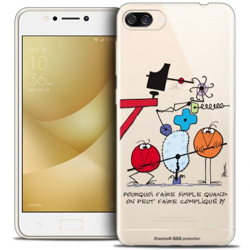 "Coque Gel Asus Zenfone 4 MAX ZC520KL (5.2"") Extra Fine Les Shadoks® - Pourquoi faire Simple"
