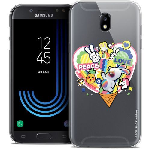 """Coque Gel Samsung Galaxy J5 2017 J530 (5.2"""") Extra Fine Lapins Crétins™ - Peace And Love"""