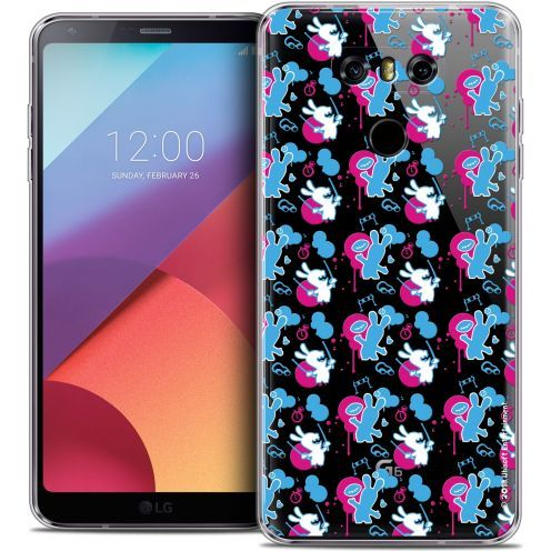 Coque Gel LG G6 Extra Fine Lapins Crétins™ - Rugby Pattern