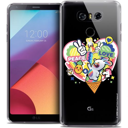 Coque Gel LG G6 Extra Fine Lapins Crétins™ - Peace And Love