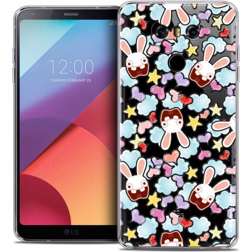 Coque Gel LG G6 Extra Fine Lapins Crétins™ - Love Pattern