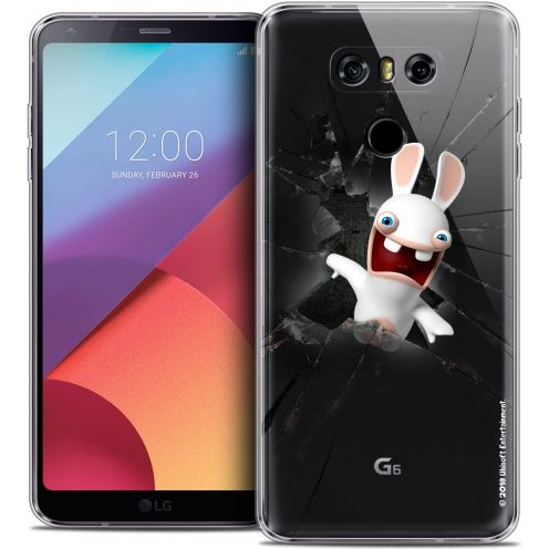 Coque Gel LG G6 Extra Fine Lapins Crétins™ - Breaking Glass