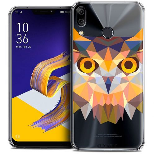 "Coque Crystal Gel Asus Zenfone 5z ZS620KL (6.2"") Extra Fine Polygon Animals - Hibou"