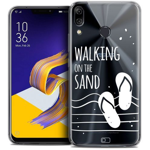 "Coque Crystal Gel Asus Zenfone 5z ZS620KL (6.2"") Extra Fine Summer - Walking on the Sand"