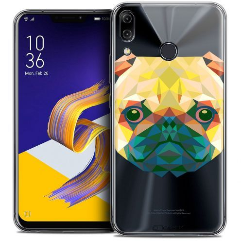 "Coque Crystal Gel Asus Zenfone 5z ZS620KL (6.2"") Extra Fine Polygon Animals - Chien"