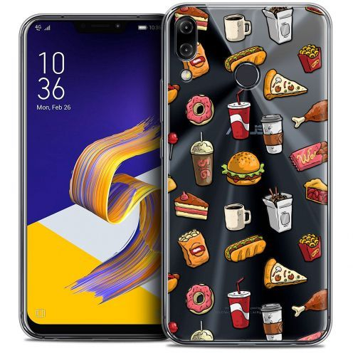 """Coque Crystal Gel Asus Zenfone 5z ZS620KL (6.2"""") Extra Fine Foodie - Fast Food"""