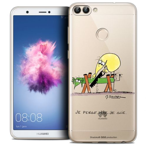 "Coque Gel Huawei P Smart (5.7"") Extra Fine Les Shadoks® - Je pense Donc"