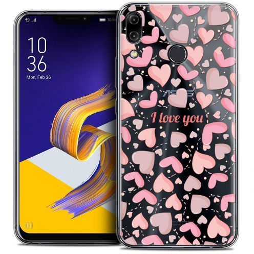 """Coque Crystal Gel Asus Zenfone 5z ZS620KL (6.2"""") Extra Fine Love - I Love You"""