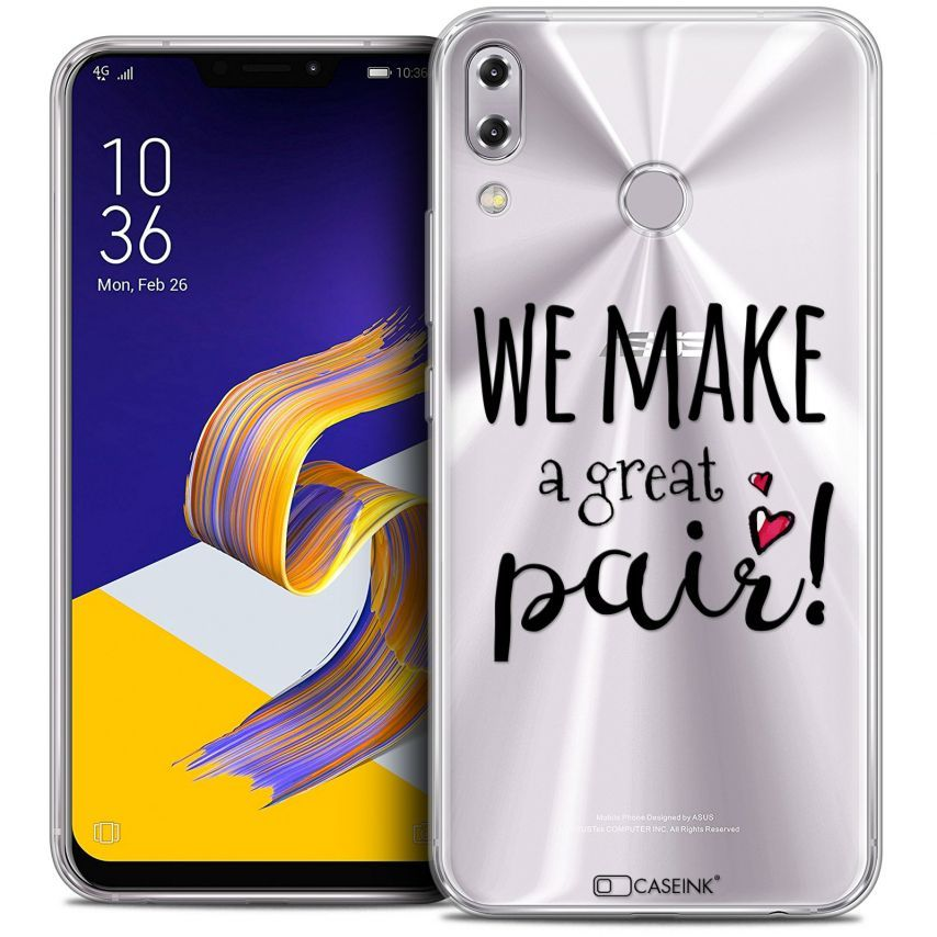 "Coque Crystal Gel Asus Zenfone 5z ZS620KL (6.2"") Extra Fine Love - We Make Great Pair"